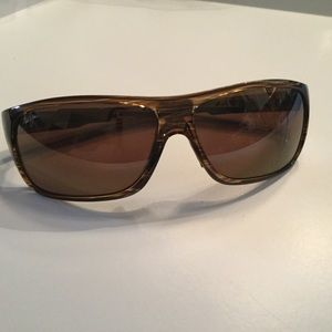 MAUI JIM ISLAND TIME GOLDEN BROWN SUNGLASSES AS IS